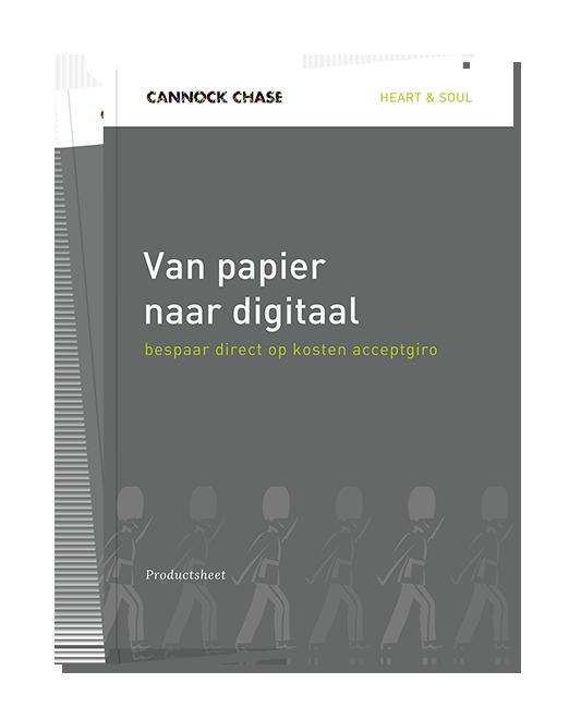 Productsheet Van papier naar digitaal
