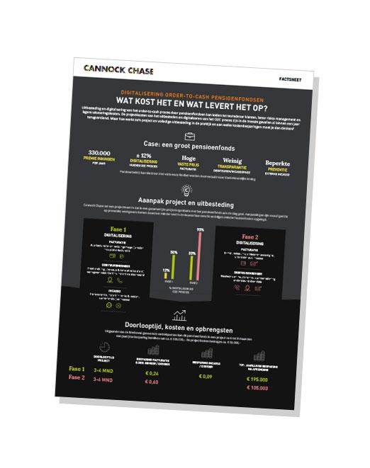 Factsheet uitbesteden O2C-proces voor pensioenfondsen